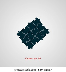 Puzzle icon vector, Vector EPS 10 illustration style