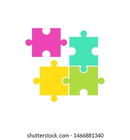 puzzle icon vector flat design