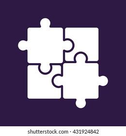 Puzzle icon . Vector illustration
