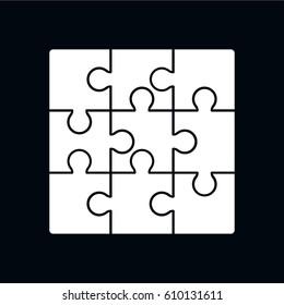 puzzle icon vector illustration