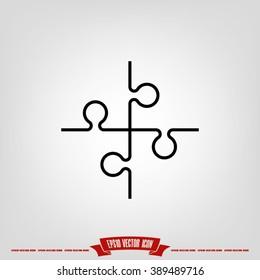 puzzle icon vector illustration eps10.