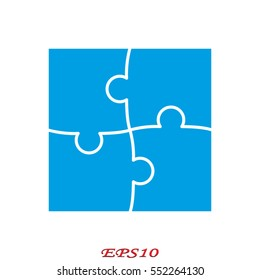 puzzle, icon, vector illustration eps10