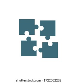 Puzzle icon vector illustration isolated on white