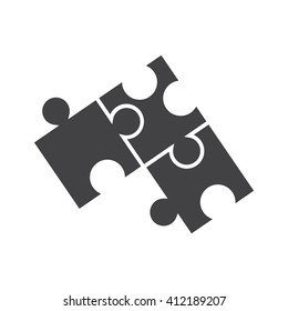 Puzzle icon Vector Illustration on the white background.