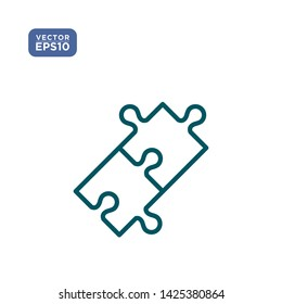puzzle icon vector illustration template