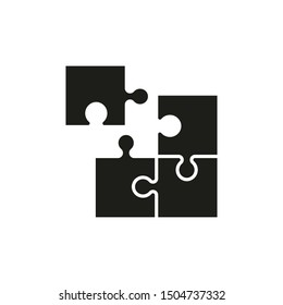 Puzzle icon. Vector. Isolated. Flat design.