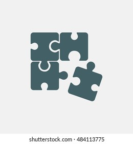 puzzle icon vector isolated on white background