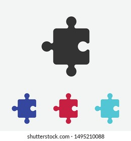 Puzzle icon vector. Piece sign