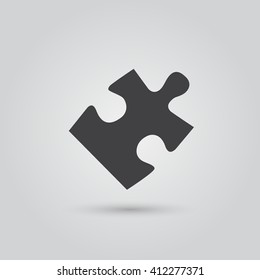 Puzzle icon vector, solid illustration, pictogram isolated on gray