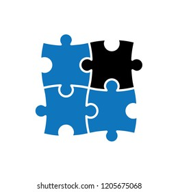 puzzle icon vector template