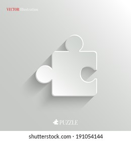 Puzzle icon - vector web illustration, easy paste to any background