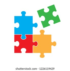 Puzzle Image with Non Connected Piece