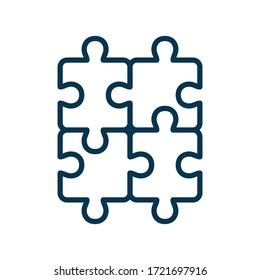 puzzle - jigsaw puzzle icon vector design template