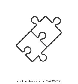 Puzzle line icon.