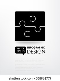 Puzzle (monochrome 4). Business component. The image can be used for your business, presentations, projects, promotion