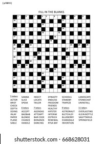 Puzzle page with 19x19 English language word game. Black and white, A4 or letter sized.