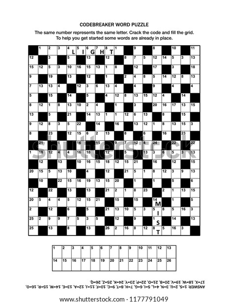 This is an image of Codeword Puzzles Printable with age 6 to 12