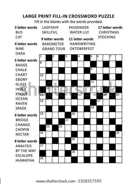 image about Free Printable Word Fill in Puzzles known as Puzzle Webpage Higher Print Crisscross Krisskross Inventory Vector