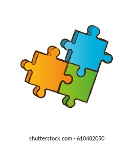 puzzle piece business image vector illustration eps 10