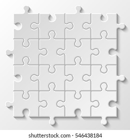 Puzzle piece business presentation. Circle infograph. Step process diagram. Section compare banner.