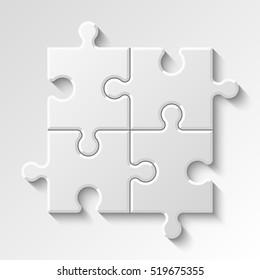 Puzzle piece business presentation. Step process diagram. Section compare banner.