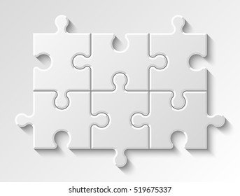 Puzzle piece business presentation.Step process diagram. Section compare banner.
