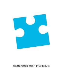 Puzzle Piece in Geometric Shape