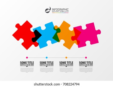 Puzzle piece infographics business concept. Modern design template. Vector illustration