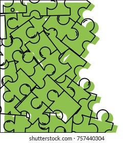 puzzle pieces game background design