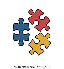 puzzle pieces icon image