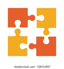 puzzle pieces separated icon image