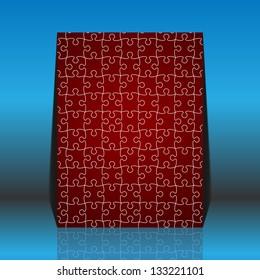 Puzzle pieces vector - flyer design