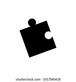 Puzzle Pieces Vector Icon, The symbol of pazzle. Simple, modern flat vector illustration