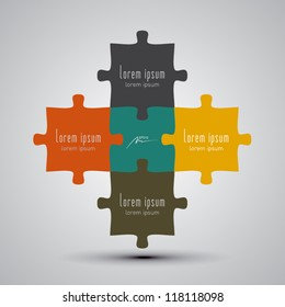 puzzle pieces vector illustration