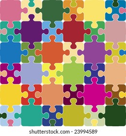 Puzzle seamless pattern.