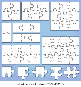 Puzzle set: 1, 2, 3, 4, 6, 8, 9, 12 pieces