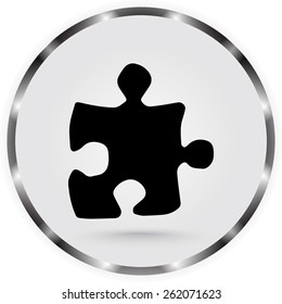 Puzzle sign icon, vector illustration. Flat design style