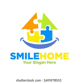puzzle smile home logo designs for dent