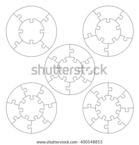 Puzzle Templates Circle Stock Vector Royalty Free 400548853