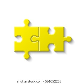 Puzzle two piece business presentation. Circle infograph. 2 Step process diagram. Section compare banner.