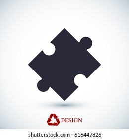 puzzle vector icon, vector best flat icon, EPS