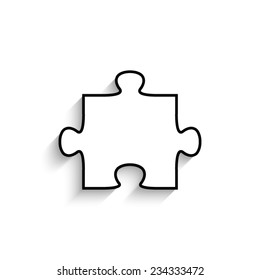 puzzle  - vector icon with shadow