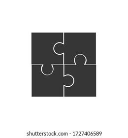 puzzle vector icon team work