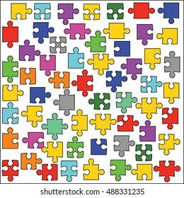 Puzzle vector illustration.