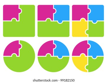 Puzzle. Vector illustration.