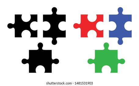 Puzzle Vector Pattern Illustration Silhouette