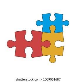 Puzzles jigsaw isolated