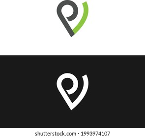 pv logo concept for business uses