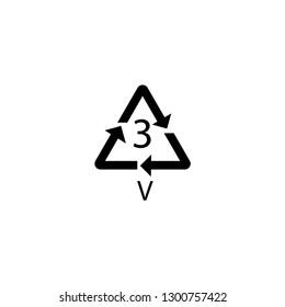 PVC mark. Polyvinyl chloride sign