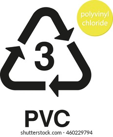 PVC polyvinyl chloride recycling code